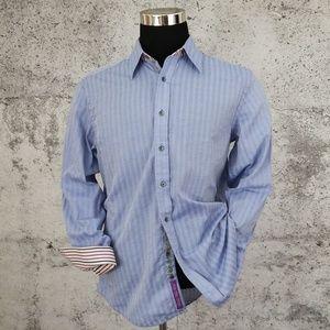 ROBERT GRAHAM Blue Havana Stripe Shirt